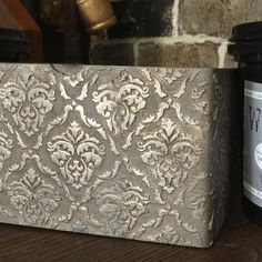 Cigar box turned heirloom, just another day at the office. #chalkpaintis25 #oldviolet #woodicing #gildingwax #fauxstudiodesigns #thepaintstation