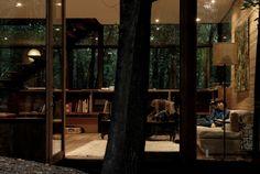 Forest House Design in Beautiful Forest at La Reina, Santiago: Apollo 11 - Home Design and Home Interior Modern Art Deco, Beautiful Forest, Forest House, Exposed Brick, Home Studio, Condominium, Apollo, Home Furniture, Architecture