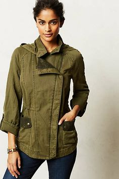 Anthropologie - Camouflaged Lace Anorak