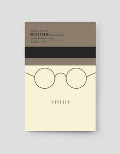 I love this neutral pallette. LER MELHOR Book Cover Series by FBA., via Behance