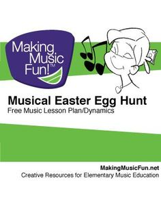 "Musical Easter Egg Hunt (Dynamics) | Free Music Lesson Plan | Level Grade 1-6 Objective Students will understand and demonstrate four dynamic levels (p-f) with this ""Easter Egg Hunt"" themed lesson plan. This lesson is designed to fulfill Standard #7 of the National Standards for Music: Listening to, analyzing, and describing music. - Candy, game and hands on music making - Waa Hoo! This lesson has worked for me in K-6 classrooms with great success!"