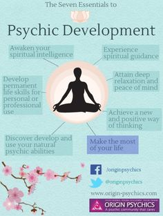 7 Essential to #Psychic Development - make the most of your #life. Credit to Origin Psychics