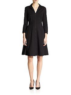 Lafayette 148 New York Kathy Zip-Front Dress $448