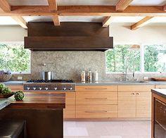 Wood modern kitchen