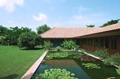 Tropical House by Hiren Patel Architects - http://architectism.com/tropical-house-by-hiren-patel-architects/ - Hiren Patel Architects, Tropical House, Tropical House Gujarat, Tropical House Hiren Patel Architects