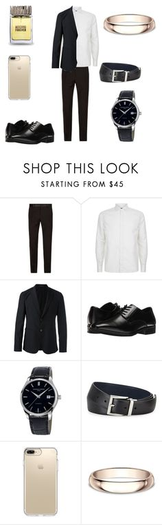 """""""Untitled #33"""" by gilagirl ❤ liked on Polyvore featuring Dolce&Gabbana, Corneliani, Emporio Armani, Stacy Adams, Frédérique Constant, Prada, Speck, Modern Bride, Moschino and men's fashion"""