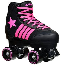 Special Offers - Epic Skates 2016 Epic Star Vela 4 Indoor/Outdoor Classic High-Top Quad Roller Skates Black/Pink - In stock & Free Shipping. You can save more money! Check It (June 16 2016 at 04:55PM) >> http://kidsscooterusa.net/epic-skates-2016-epic-star-vela-4-indooroutdoor-classic-high-top-quad-roller-skates-blackpink/