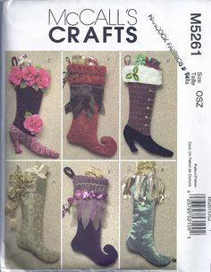 Victorian Christmas Stocking CollectionMcCalls Pattern by colojd