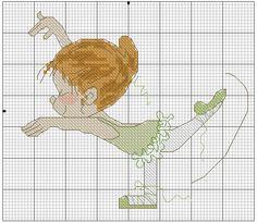 Points de croix *@* cross stitch Ballet Girl 08