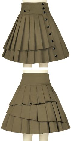 Pleated Side Button Bustle Skirt -- Chic Star Design by Amber Middaugh and Maylin Morey standard size $55.95 Plus size $59.95