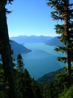 The view overlooking the pacific ocean in Bella Coola, Blue Jay Lake