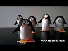 Toilet Paper Roll Penguin Craft Project for Kids | krokotak