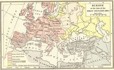 Preparations for the first crusade knights crusaders caliphates map of europe at the time of the first crusade 1096 crusades gumiabroncs Choice Image