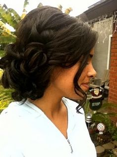 pretty updo for bridesmaids