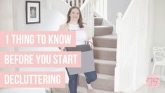 Whether you're struggling to figure out how to start decluttering when you're overwhelmed. Or if you've been decluttering for a while, but are still feeling overwhelmed with too much stuff, I want to share with you this one MUST DO tip before you start or dive back into the decluttering process. Organising Tips, Organisation Hacks, Organization, We Energies, Feeling Overwhelmed, Decluttering, Things To Know, Joy, Simple