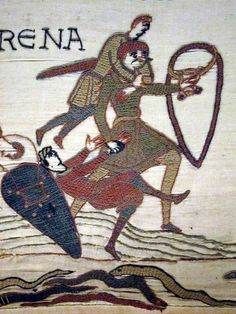 """""""Harold saving Normans"""" from the 11th century Bayeux Tapestry in Normandy, France This is an Absolutely phenomenal work of art!"""