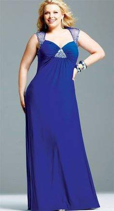 Memorable Wedding: You Can Look Perfect Through Plus Size Bridesmaid Dresses Formal Dresses Under 100, Royal Blue Formal Dresses, Prom Dresses Blue, Blue Plus Size Dresses, Evening Dresses Plus Size, Chiffon Evening Dresses, Chiffon Dress, Simple Bridesmaid Dresses, Bridesmaid Dresses Plus Size
