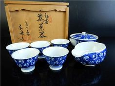 H2087: Japanese Kiyomizu-ware TEAPOT YUSAMASHI CUPS Izumi made w/signed box  Age: Post-1940 Teapot, Cups, Japanese, Age, Tableware, Ebay, Tea Pot, Mugs, Dinnerware