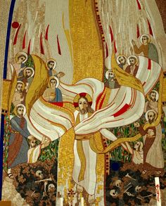 Resurrection of Christ (detail), Marko Ivan Rupnik (Slovenian, 1954–), 2006. #Art #Mosaic #Lent #HolyWeek #PassionWeek #Easter #ResurrectionSunday