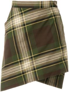 Shop Vivienne Westwood checked wrap skirt .