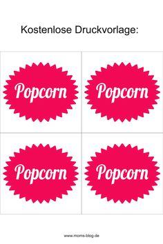 Mit diesem Rezept könnt ihr Popcorn wie im Kino ganz einfach selber machen! #popcorn #kino #kinopopcorn #autokinosnack Kino Snacks, Popcorn Wie Im Kino, Mom Blogs, Tricks, Free Printables, Board, Free Printable, Diy, Recipe