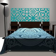 MairGwall Headboard Decal Bed Vinyl Bedroom Dcor Home Mural NOT Real Headboard King Teal >>> You can get additional details at the image link. Note: It's an affiliate link to Amazon