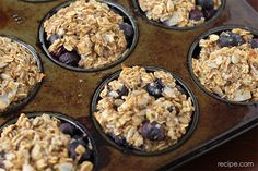 Make-Ahead Breakfast: Blueberry Baked Oatmeal Muffins
