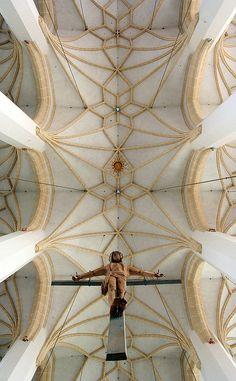 """The Interior of the """"Frauenkirche"""" in München / Munich."""