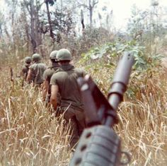 C2/17th Blues moving off the LZ, A Shau Valley, 1969.