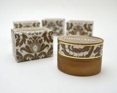 Vintage Avon Brocade Cream Sachet, .66 oz, New Old Stock, In Original Box…