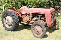 red massey ferguson tractor | ... MASSEY FERGUSON FE35 red/gold 4cylinder diesel TRACTOR Seri..) Image 1