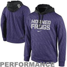 Nike TCU Horned Frogs KO Performance Hoodie - Purple