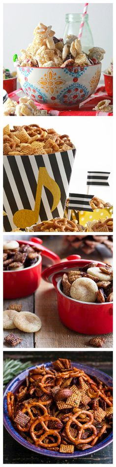 Everybody loves Chex mix, that's just a fact of life. What happens when you christmas-ify it? Pure holiday snacking perfection. We've found nine of our favorite holiday Chex recipes and put them all in one place. Make for snacking and parties or for an adorable DIY gift!