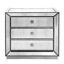 Nightstand Option | Omni Mirrored 3 Drawer Chest | 32''W x 18''D x 30''H (same height and depth, just sliiiiiightly wider)