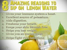 Why should you take lemon water?