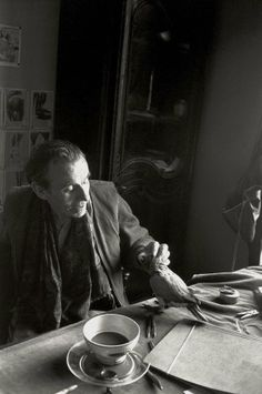 Louis-Ferdinand Céline,  05/06/1957. Photographe : François PAGES.