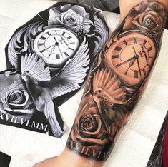 63 New Ideas Tattoo Sleeve Clock Beautiful - 63 New Ideas Tattoo Sleeve Clock . - 63 New Ideas Tattoo Sleeve Clock Beautiful – 63 New Ideas Tattoo Sleeve Clock Beautiful - Dove Tattoos, Forarm Tattoos, Forearm Sleeve Tattoos, Best Sleeve Tattoos, Sleeve Tattoos For Women, Tattoo Sleeve Designs, Tattoo Designs Men, Leg Tattoos, Clock Tattoo Sleeve