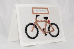 Birthday card with a bicycle - quilling / Kartka urodzinowa z rowerem - quilling