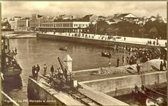 COVA GALA...entre o rio e o mar: Bela Figueira da Foz de Antigamente...Mercado, Jardim e Vista parcial da Doca