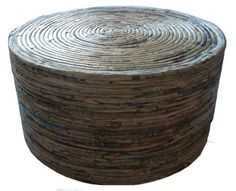 Recycled Newspaper Crafts | ... Recycled Paper Round Table Design by SEMESTA Recycling | JOGJA CRAFTS