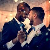 Gay Couple Dancing On Wedding Day Stock Photo (Edit Now) 750537043 Gay Couple, Photo Video App, Open Relationship, Wedding Playlist, Wedding Planning Tips, Dance Photography, Alternative Wedding, First Dance, Beautiful Moments
