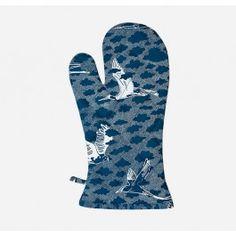 Blue Birds Oven Glove