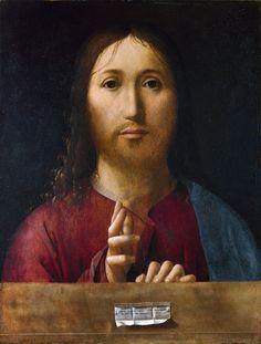ANTONELLO DA MESSINA (1430 - 1479)   Christ Blessing