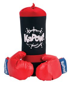 Bullies beware! After a couple minutes on the bag, your little one will be throwing jabs and haymakers that'll make Chuck Norris run for cover. Great exercise and a perfect self-esteem builder, this foam-filled punching bag comes with two vinyl gloves and hanging accessories. Includes punching bag, two gloves and hanging cord18'' highRecommended ...