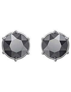 a7a5d4873 SWAROVSKI TYPICAL JET AMETHYST PIERCED EARRINGS 5086254 | Duty Free Crystal Pierced  Earrings, Cute Stud