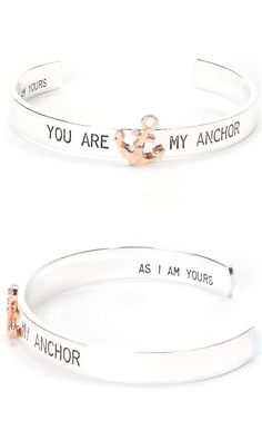You Are My Anchor Cuff Bracelet Cute! Another great gift for that special person in your life! Jewelry Box, Jewelery, Jewelry Accessories, Fashion Accessories, Boat Accessories, Anchor Jewelry, Nautical Jewelry, Military Gifts, Love Bracelets