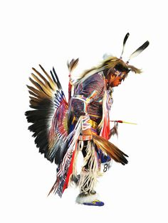 Native American Indian pow-wow dancer