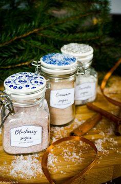 Новогодние подарки своими руками - ароматизированный сахар. Food Gifts, Christmas Presents, Blueberry, Sugar, Foods, Kitchen, Lavender, Xmas Presents, Food Food