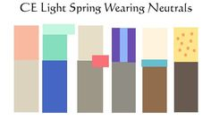 In 12 Season personal or seasonal colour analysis, True Spring looks Yellower and warmer.The pink drop earrings for Light Spring are cooler pink and the metal less yellow. Belt buckles are yellower for True Spring. Brighter, which can translate to bolder. More pigmented or saturated (compare the green shoes - are they yellower on the Light side? Yes, but you're always juggling heat/value/saturation at once and these are less saturated).