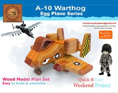 Browse unique items from Lloydswoodtoyplans on Etsy, a global marketplace of handmade, vintage and creative goods. Wooden Airplane, Airplane Toys, Airplanes, Electric Hand Drill, Fantasy Model, Cnc Projects, Weekend Projects, Wood Toys, Wood Crafts